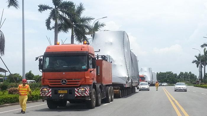 155吨大型发电机组运输服务