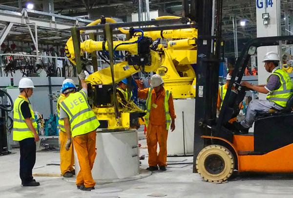 汽车焊装生产线拆解安装作业的难点解决方案